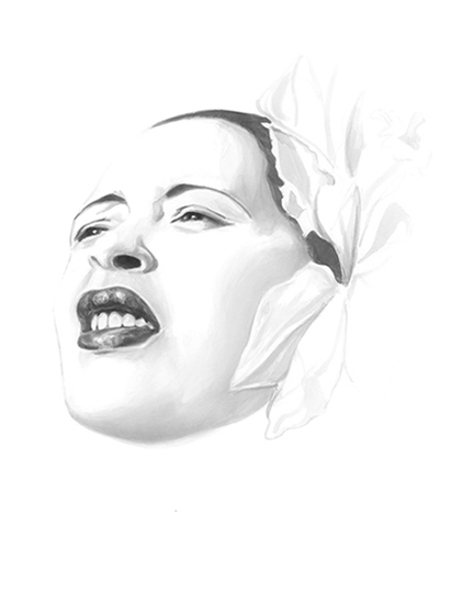 Billie Holiday for ADC Annual Report 08