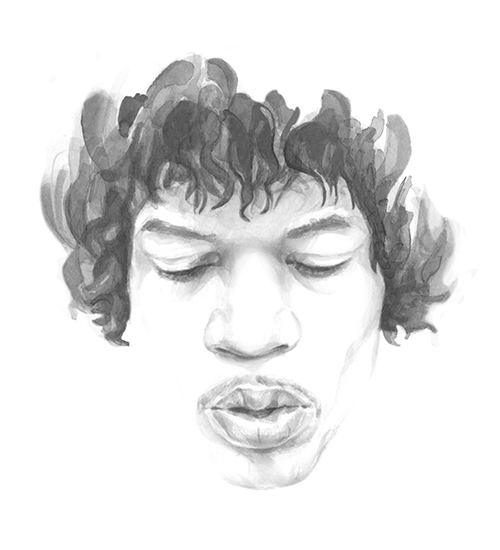 Jimi Hendrix for ADC Annual Report 08