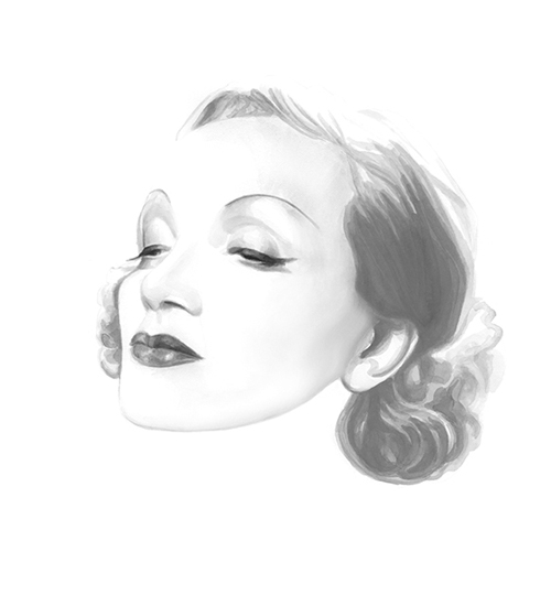Marlene Dietrich for ADC Annual Report